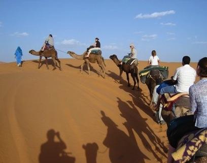 Maroc 2012 - Cordes-aux-voix - ballade à dos de chameau